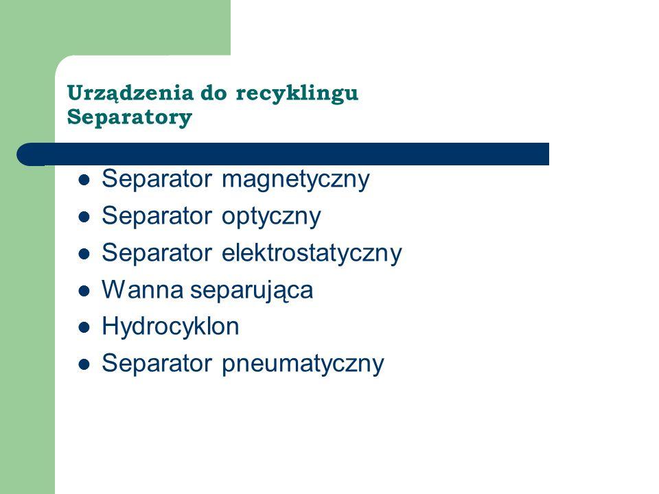 Urządzenia do recyklingu Separatory