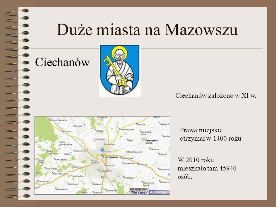 Duże miasta na Mazowszu
