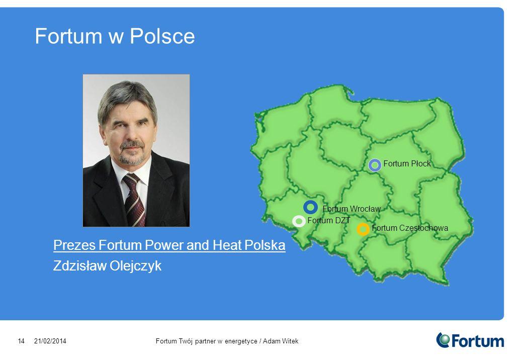 Fortum w Polsce Prezes Fortum Power and Heat Polska Zdzisław Olejczyk