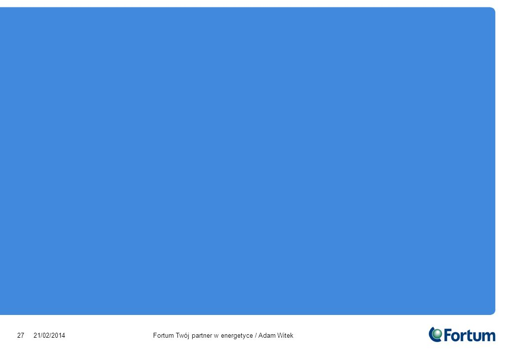 28/03/2017 Fortum Twój partner w energetyce / Adam Witek