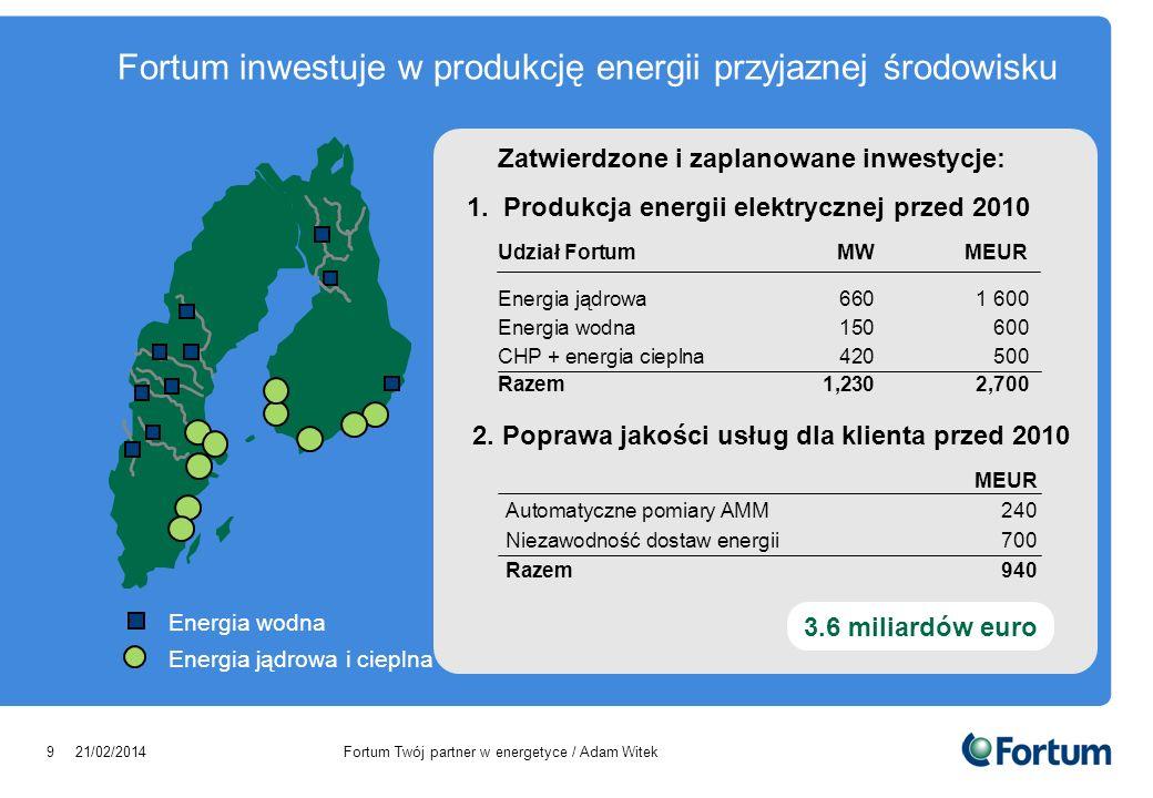 Fortum inwestuje w produkcję energii przyjaznej środowisku