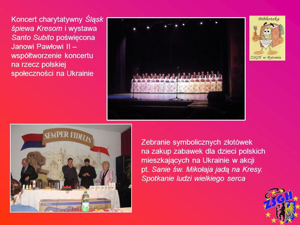 Koncert charytatywny Śląsk śpiewa Kresom i wystawa Santo Subito poświęcona Janowi Pawłowi II – współtworzenie koncertu