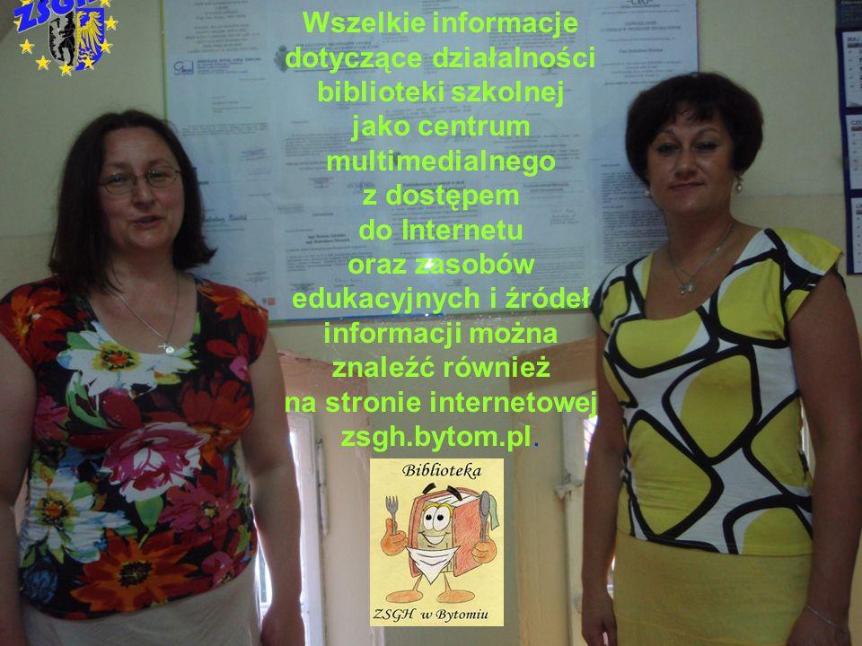 Wszelkie informacje dotyczące działalności biblioteki szkolnej
