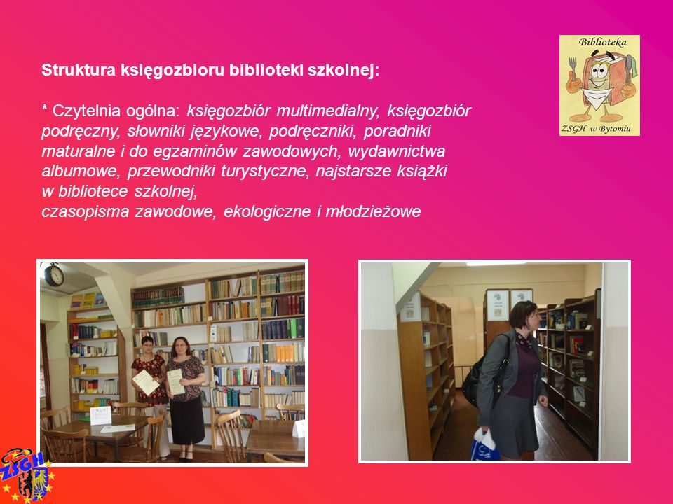 Struktura księgozbioru biblioteki szkolnej: