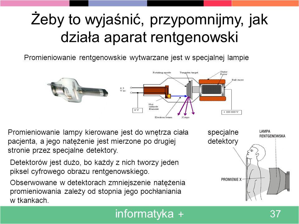 Żeby to wyjaśnić, przypomnijmy, jak działa aparat rentgenowski