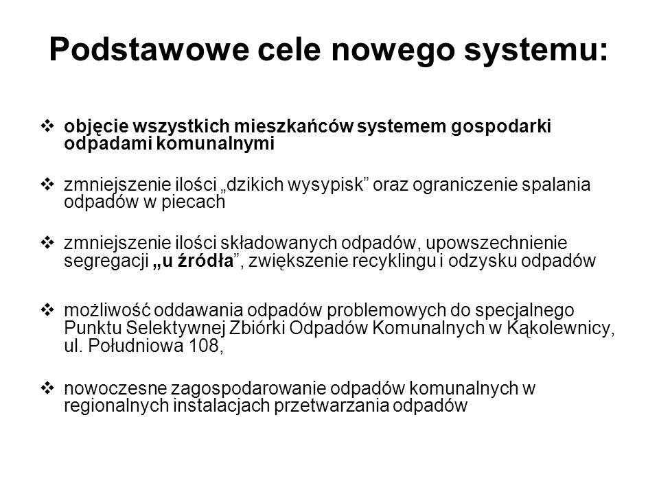 Podstawowe cele nowego systemu: