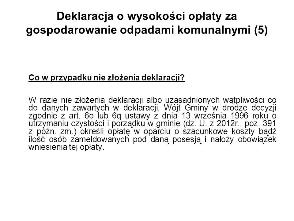 Deklaracja o wysokości opłaty za gospodarowanie odpadami komunalnymi (5)