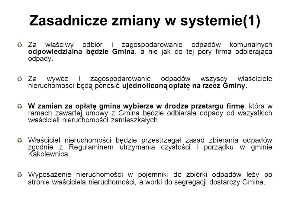Zasadnicze zmiany w systemie(1)