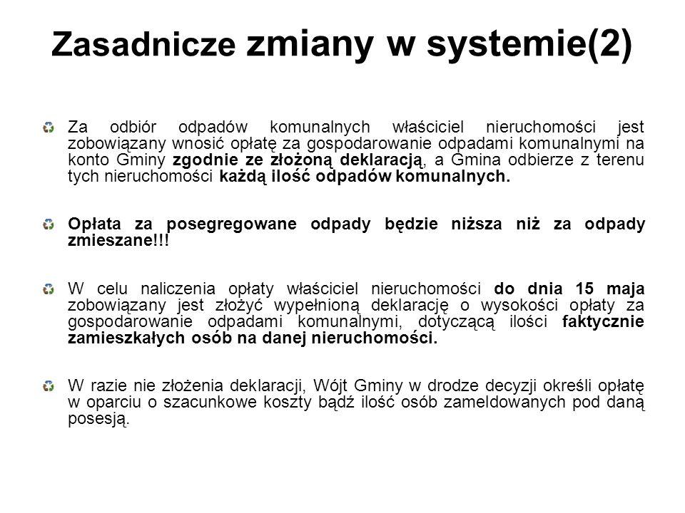 Zasadnicze zmiany w systemie(2)