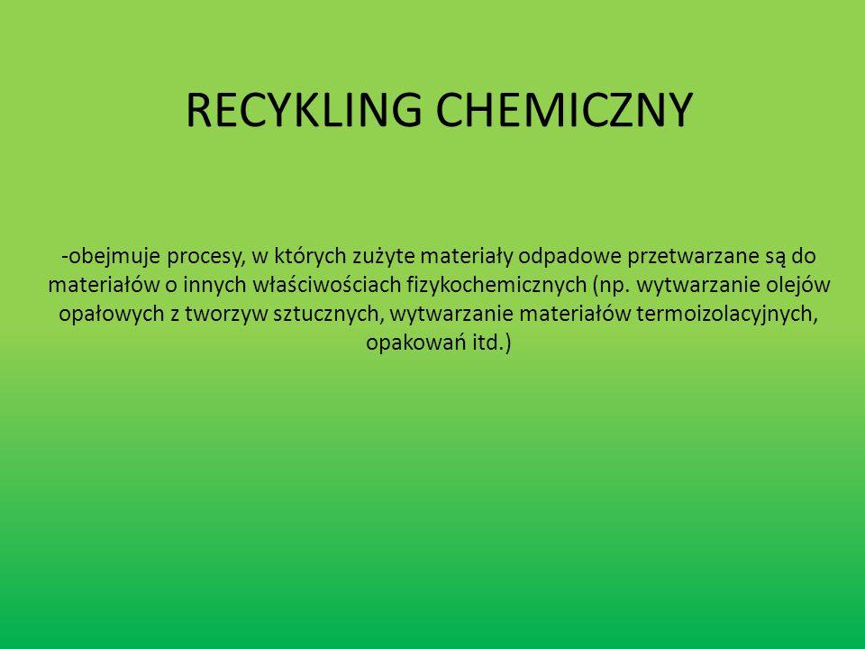 RECYKLING CHEMICZNY