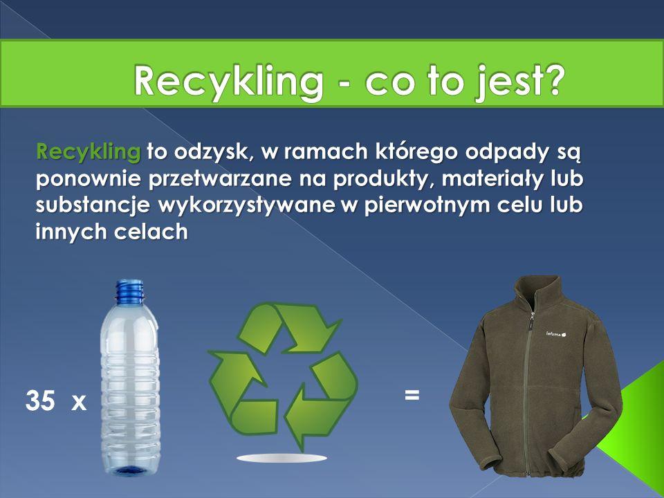 Recykling - co to jest = 35 x