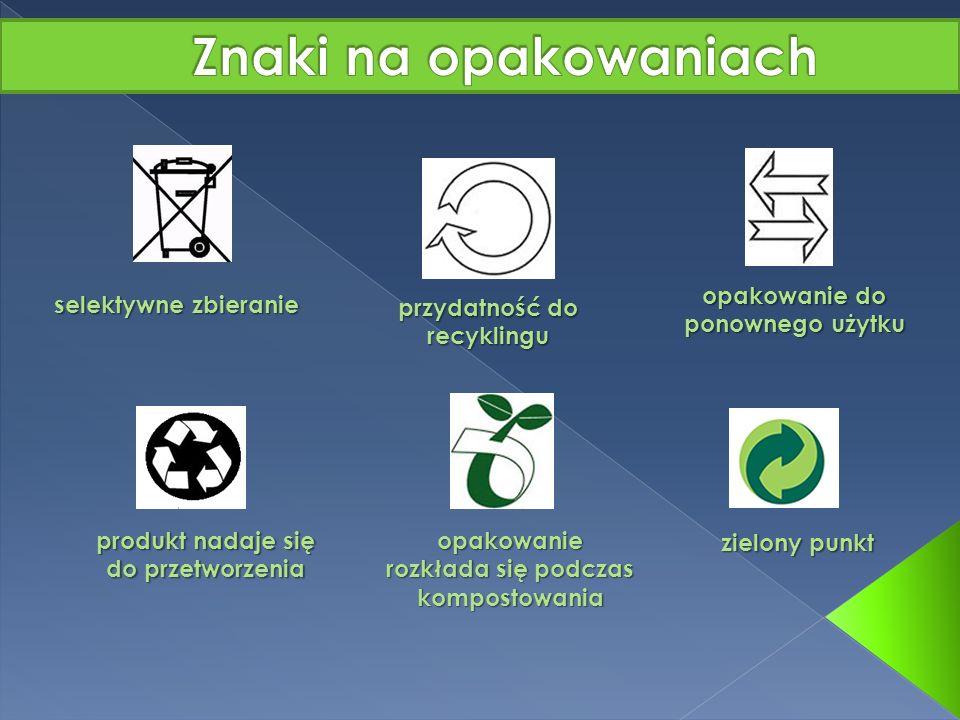Znaki na opakowaniach opakowanie do ponownego użytku