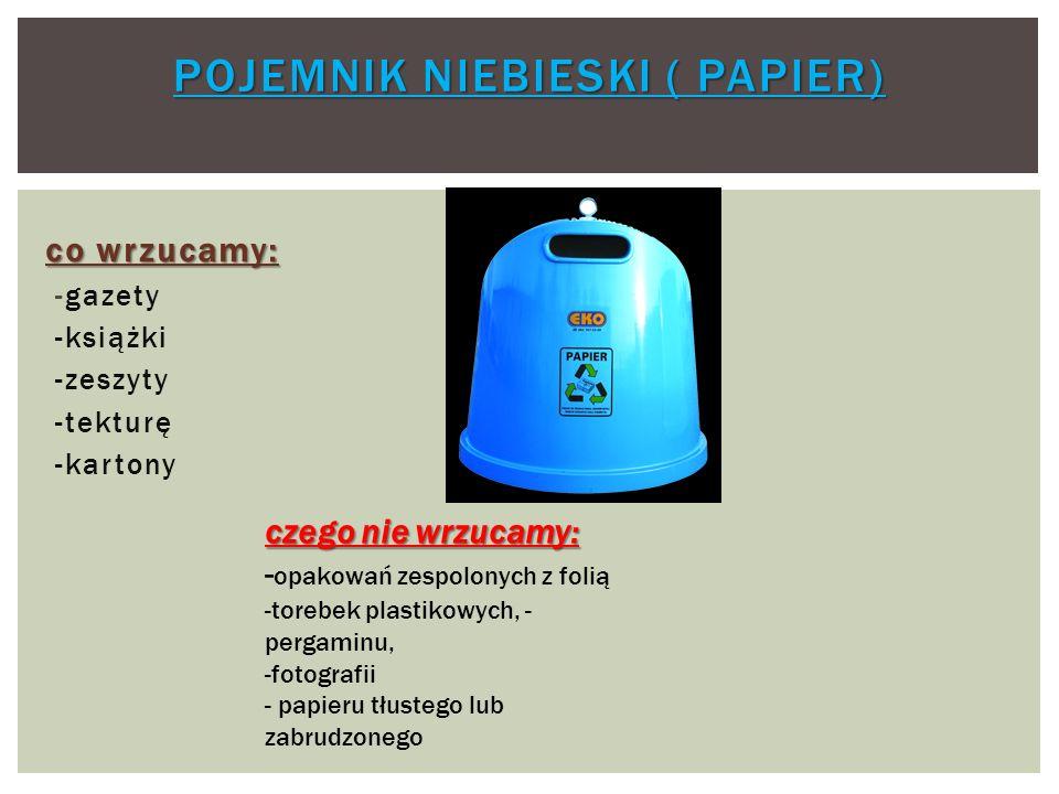 Pojemnik niebieski ( papier)