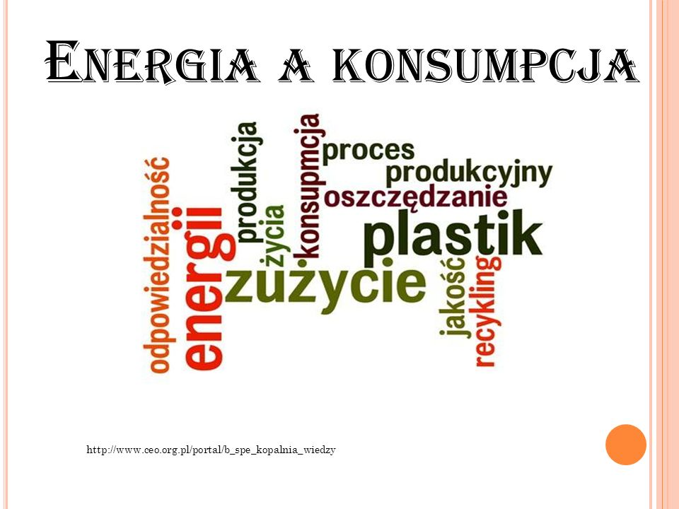 Energia a konsumpcja http://www.ceo.org.pl/portal/b_spe_kopalnia_wiedzy