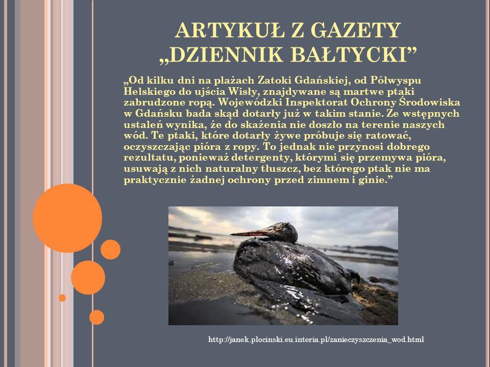 """ARTYKUŁ Z GAZETY """"DZIENNIK BAŁTYCKI"""