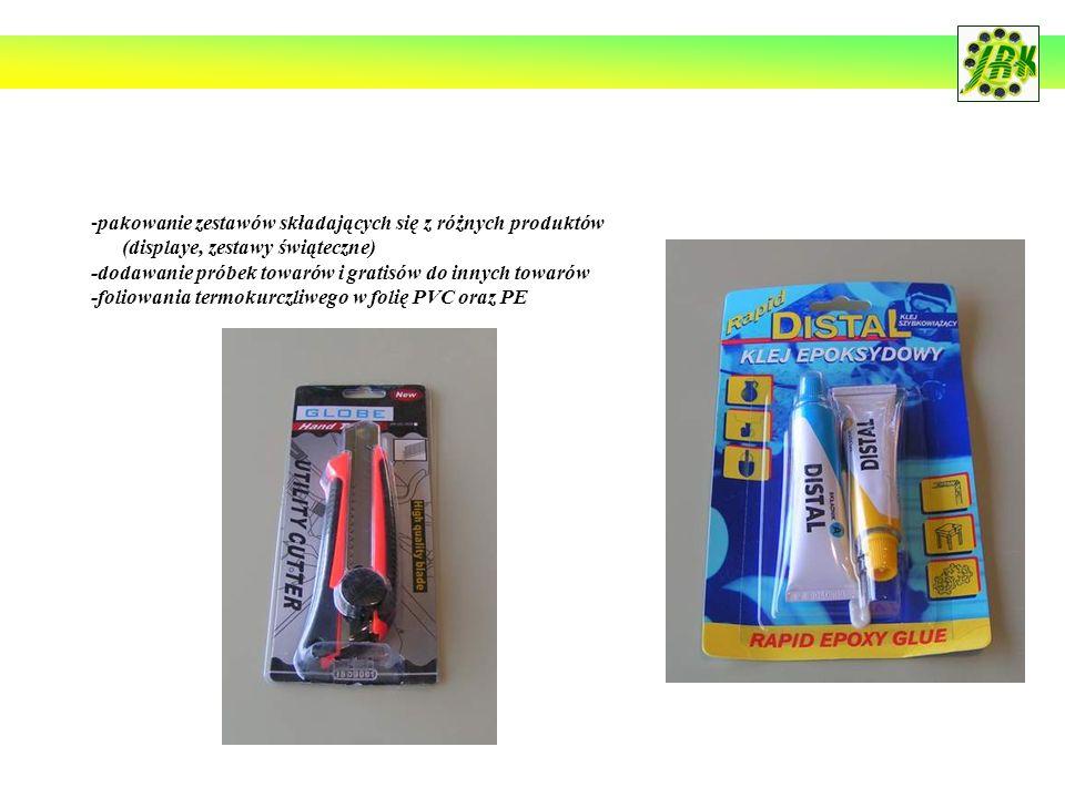pakowanie zestawów składających się z różnych produktów
