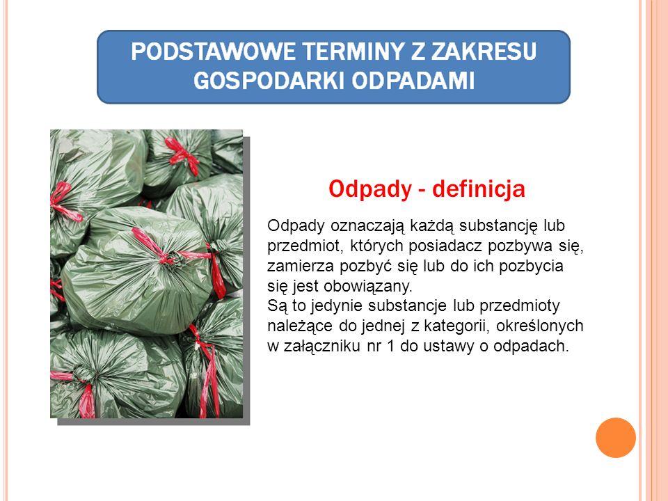 Odpady - definicja