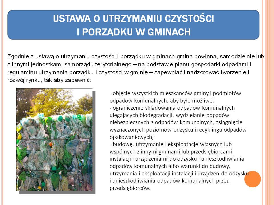 - objęcie wszystkich mieszkańców gminy i podmiotów odpadów komunalnych, aby było możliwe: