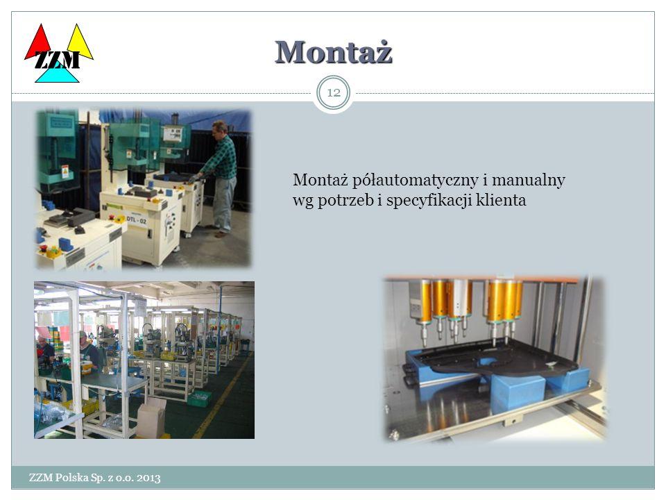 ZZM Montaż. Montaż półautomatyczny i manualny wg potrzeb i specyfikacji klienta.
