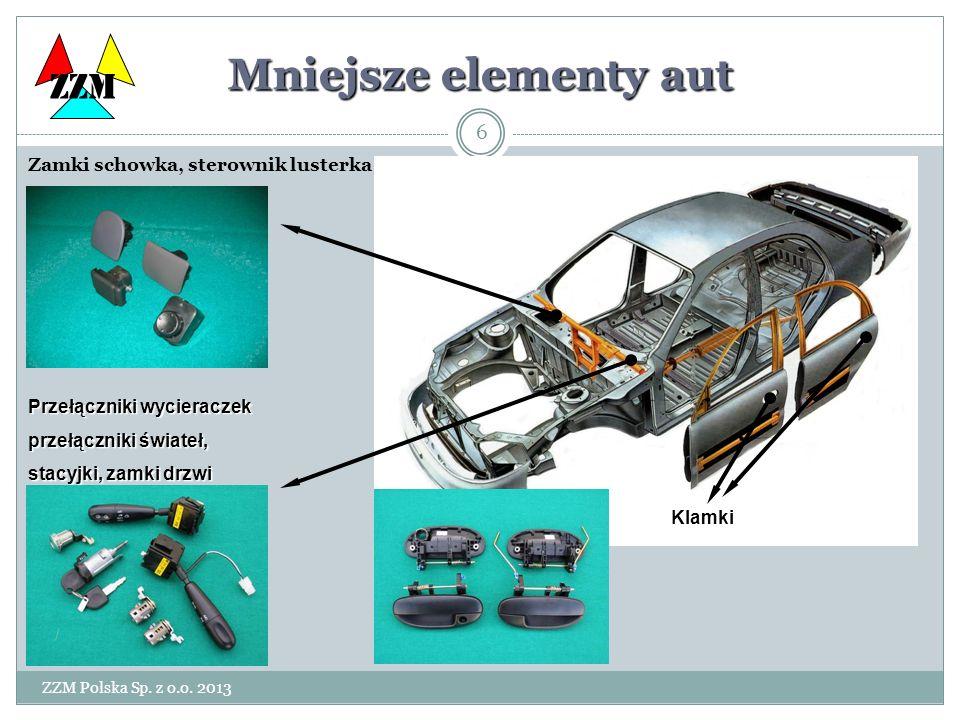 Mniejsze elementy aut ZZM Klamki Zamki schowka, sterownik lusterka
