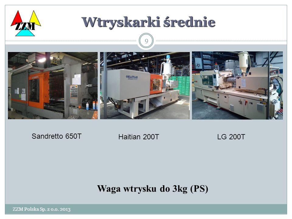 Wtryskarki średnie ZZM Waga wtrysku do 3kg (PS) Sandretto 650T