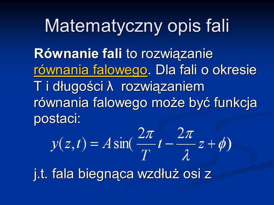 Matematyczny opis fali