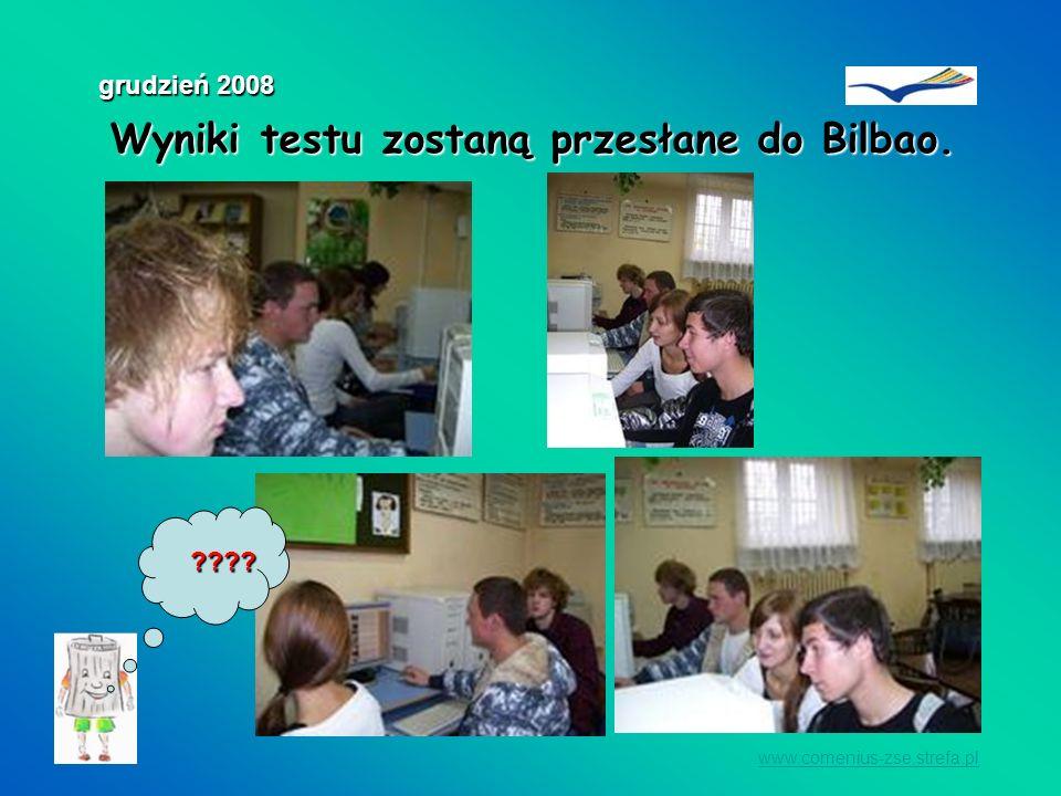 Wyniki testu zostaną przesłane do Bilbao.