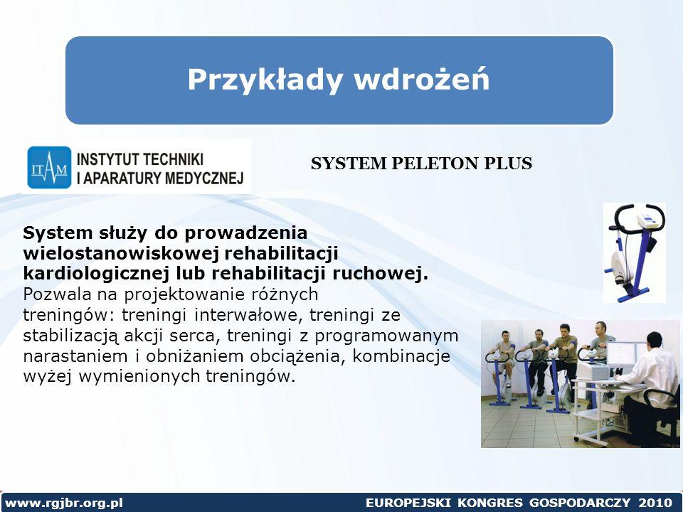 Przykłady wdrożeń SYSTEM PELETON PLUS