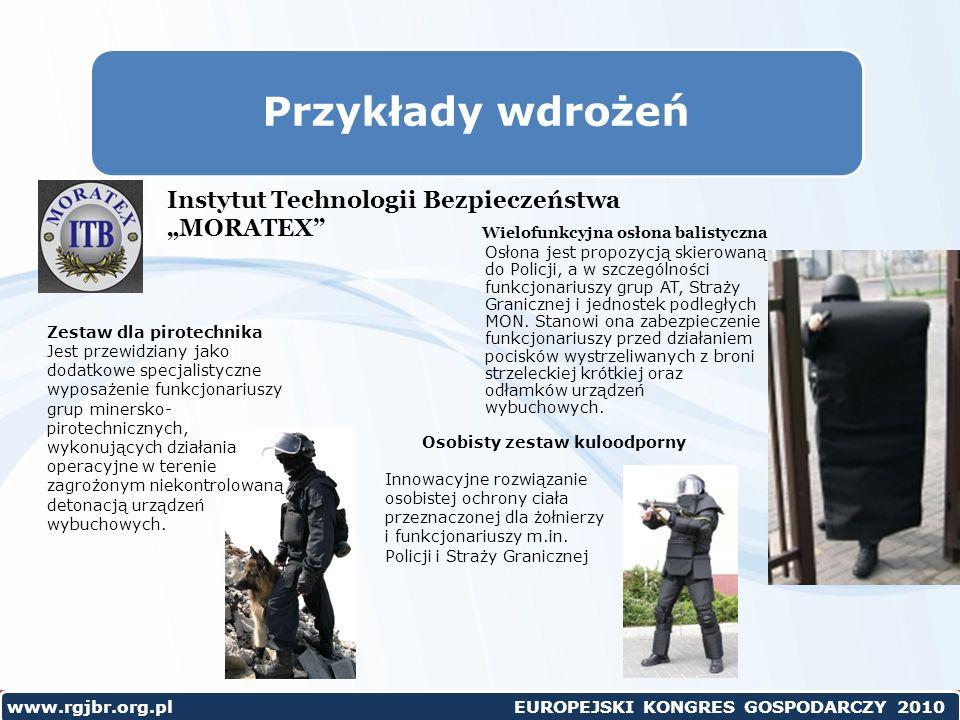 """Przykłady wdrożeń Instytut Technologii Bezpieczeństwa """"MORATEX"""