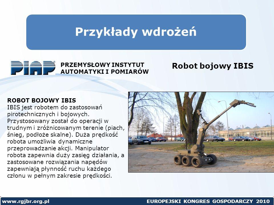 Przykłady wdrożeń Robot bojowy IBIS PRZEMYSŁOWY INSTYTUT