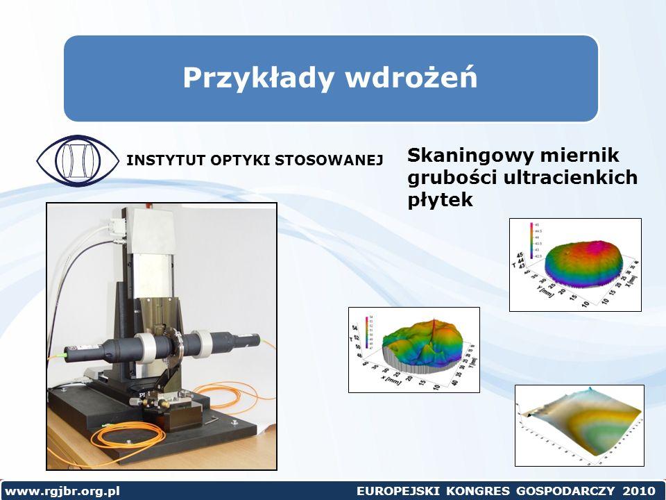 Przykłady wdrożeń Skaningowy miernik grubości ultracienkich płytek