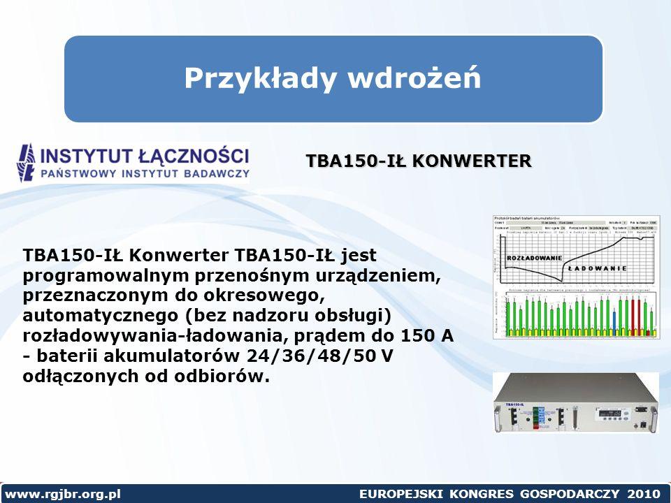 Przykłady wdrożeń TBA150-IŁ KONWERTER