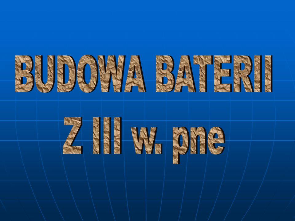 BUDOWA BATERII Z III w. pne