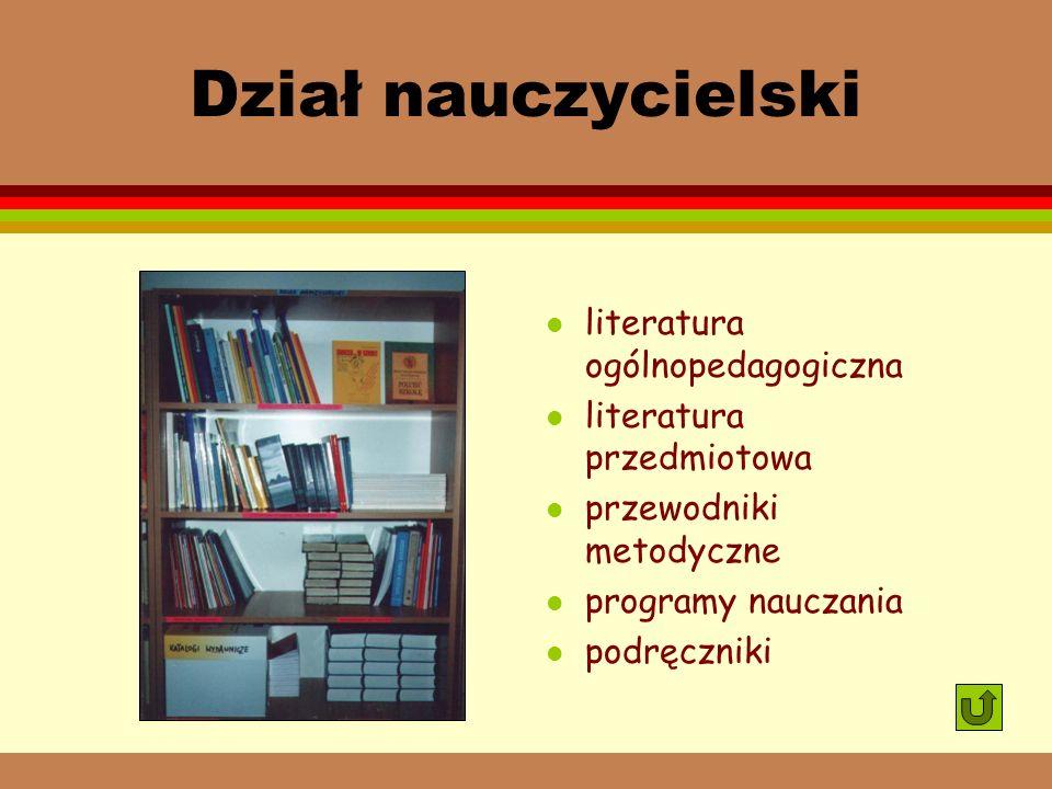 Dział nauczycielski literatura ogólnopedagogiczna