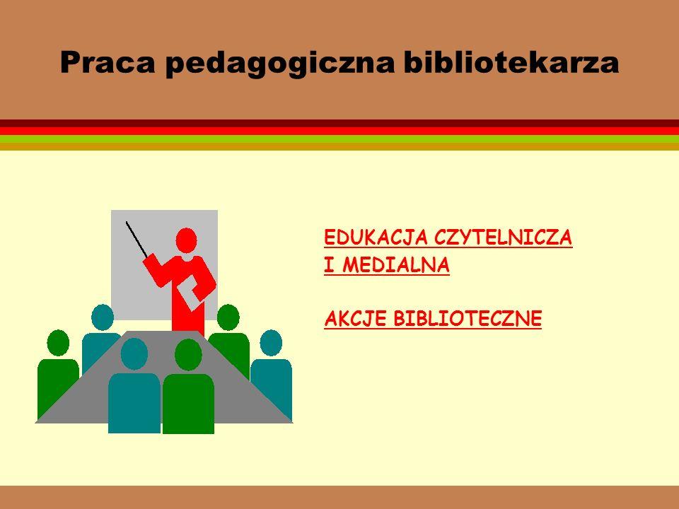 Praca pedagogiczna bibliotekarza
