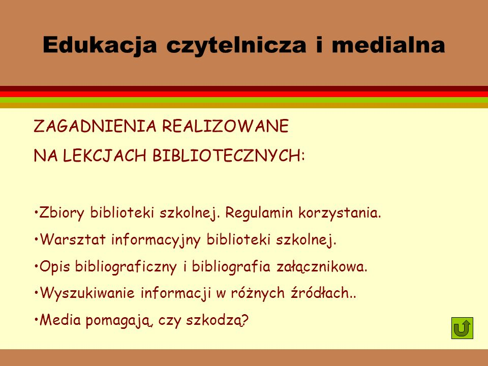 Edukacja czytelnicza i medialna