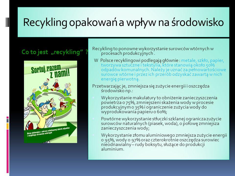 Recykling opakowań a wpływ na środowisko