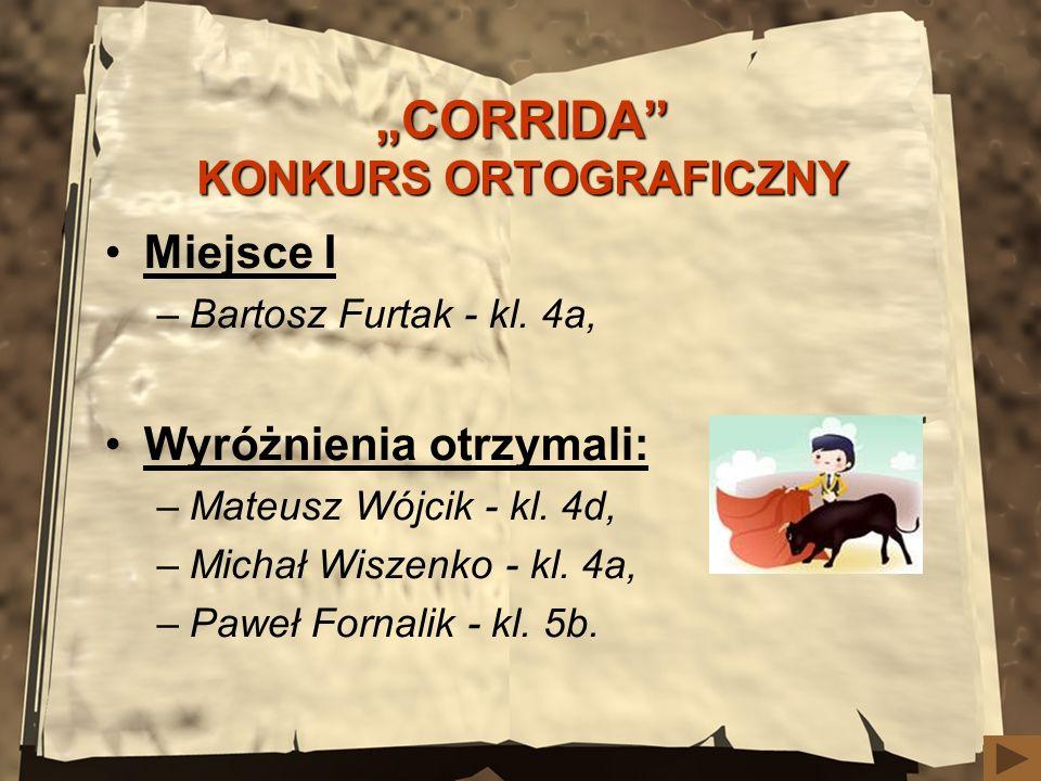 """CORRIDA KONKURS ORTOGRAFICZNY"