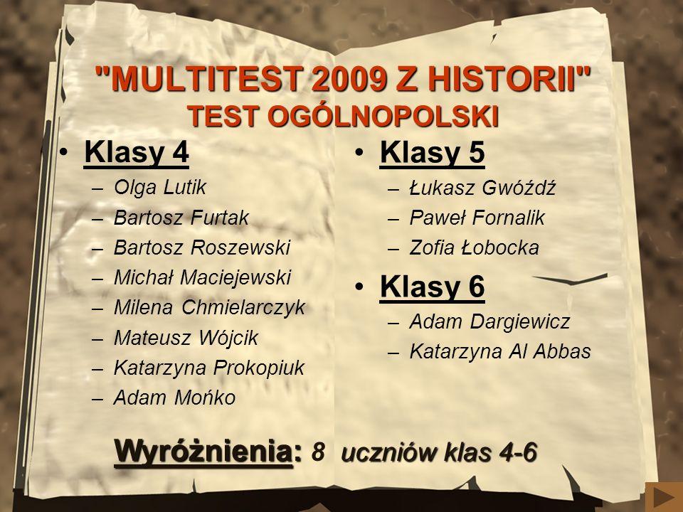 MULTITEST 2009 Z HISTORII TEST OGÓLNOPOLSKI