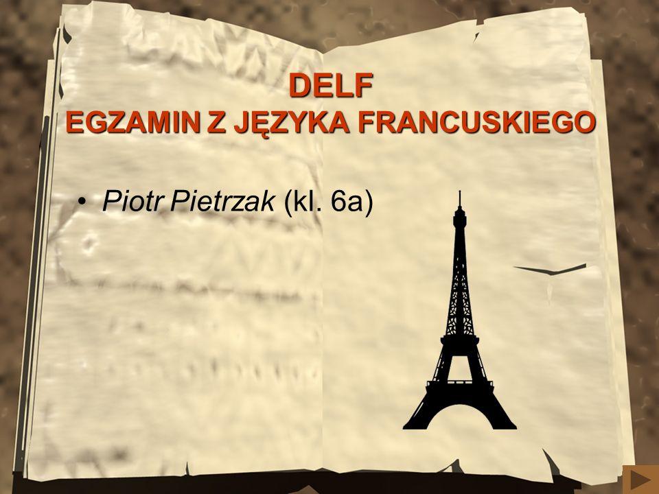 DELF EGZAMIN Z JĘZYKA FRANCUSKIEGO