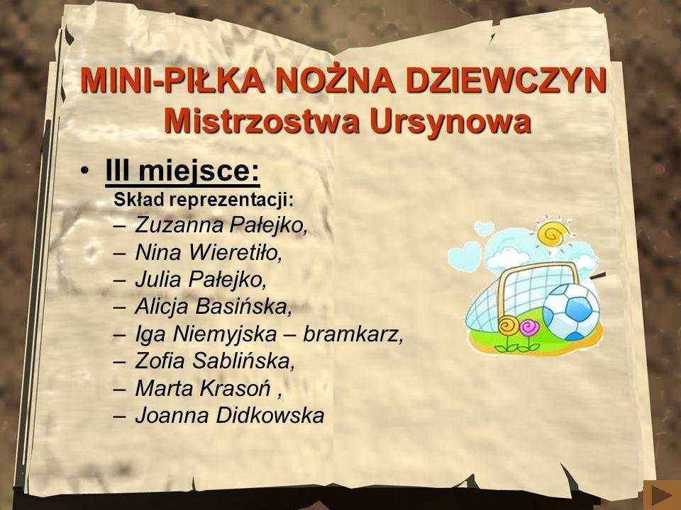 MINI-PIŁKA NOŻNA DZIEWCZYN Mistrzostwa Ursynowa
