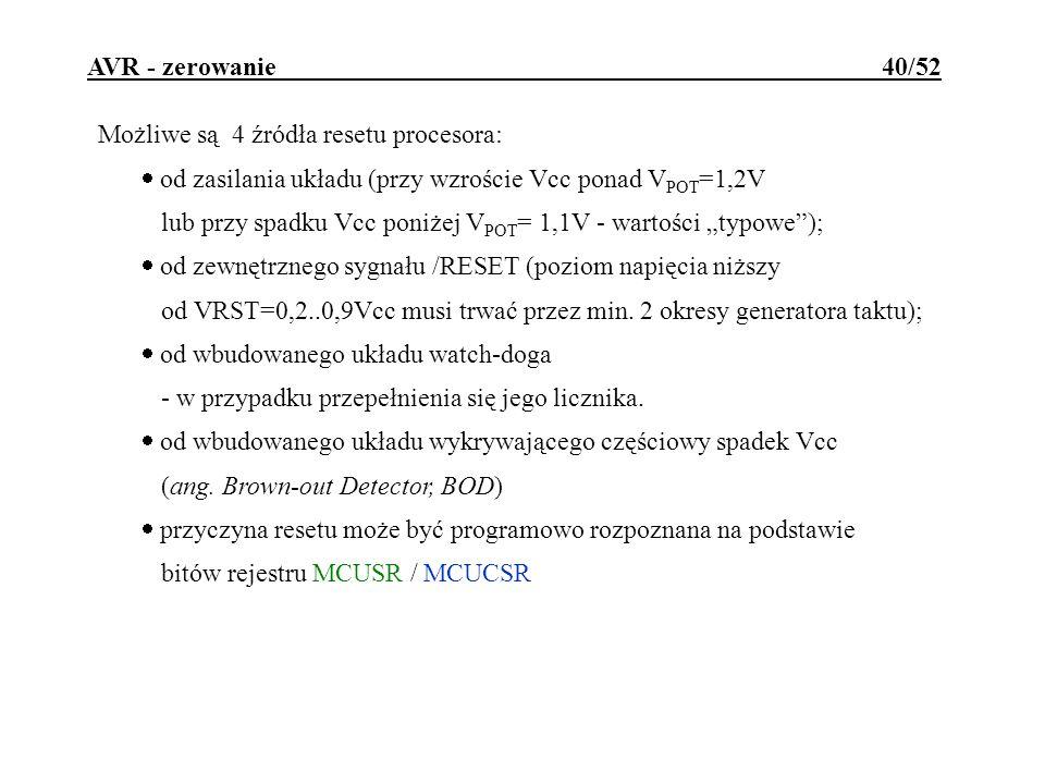 AVR - zerowanie 40/52