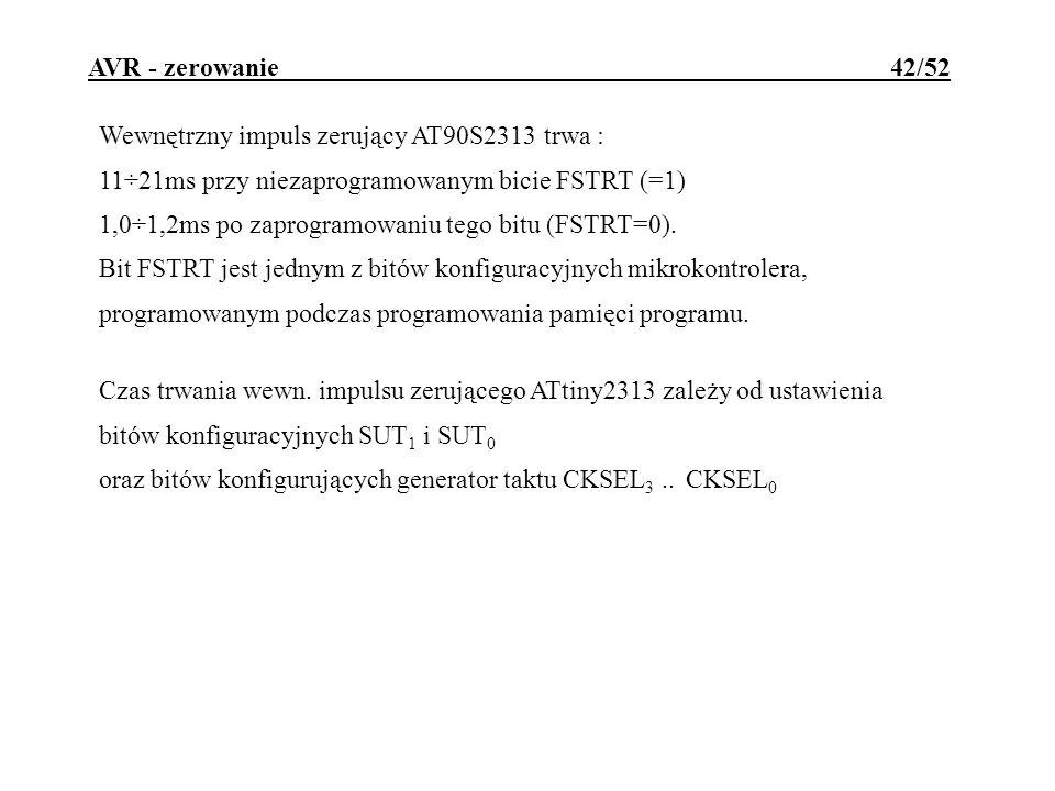 AVR - zerowanie 42/52