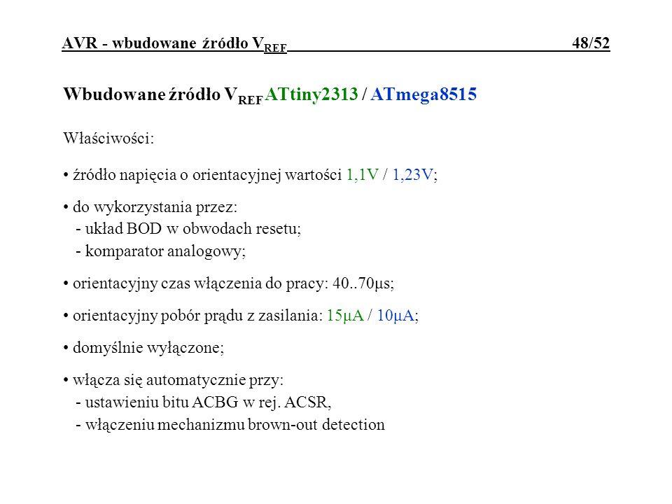 AVR - wbudowane źródło VREF 48/52