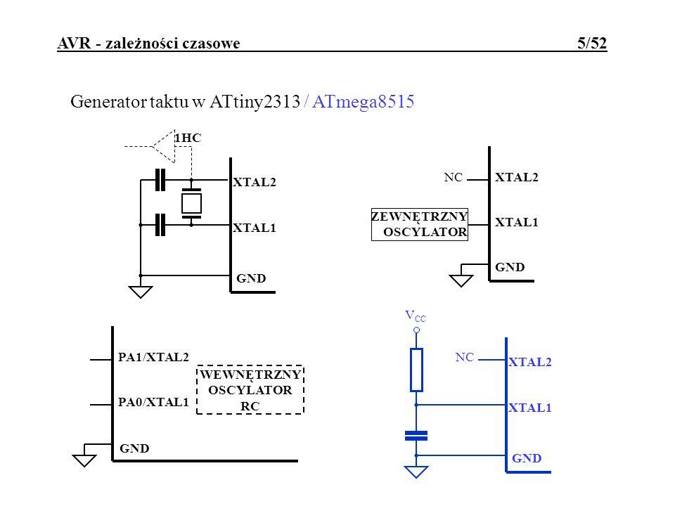 AVR - zależności czasowe 5/52