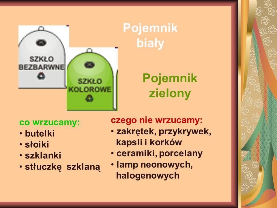Pojemnik biały Pojemnik zielony