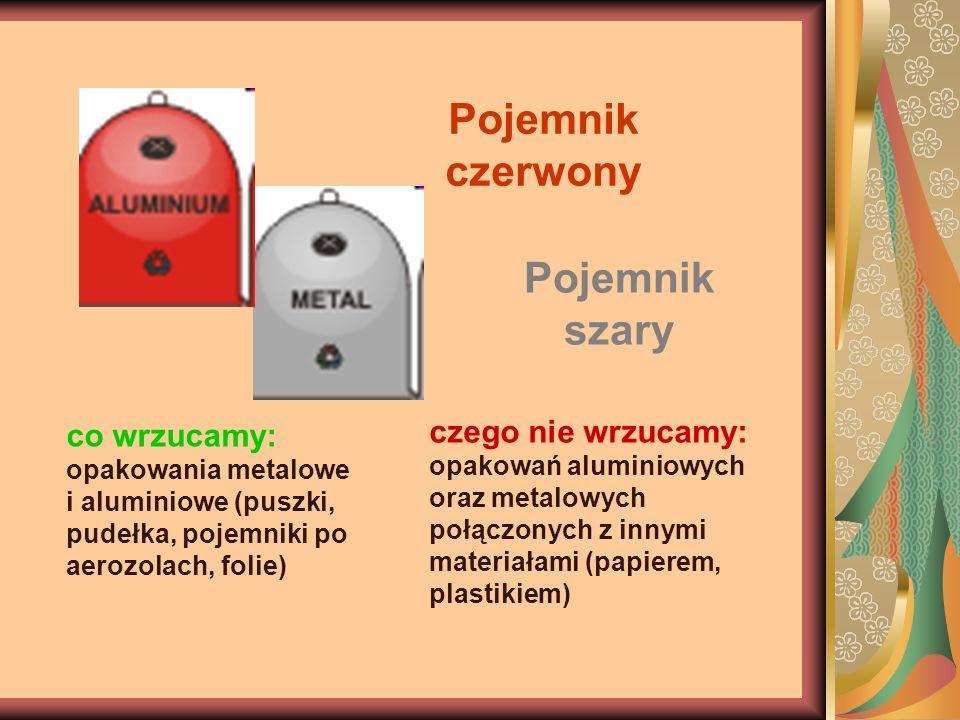 Pojemnik czerwony Pojemnik szary