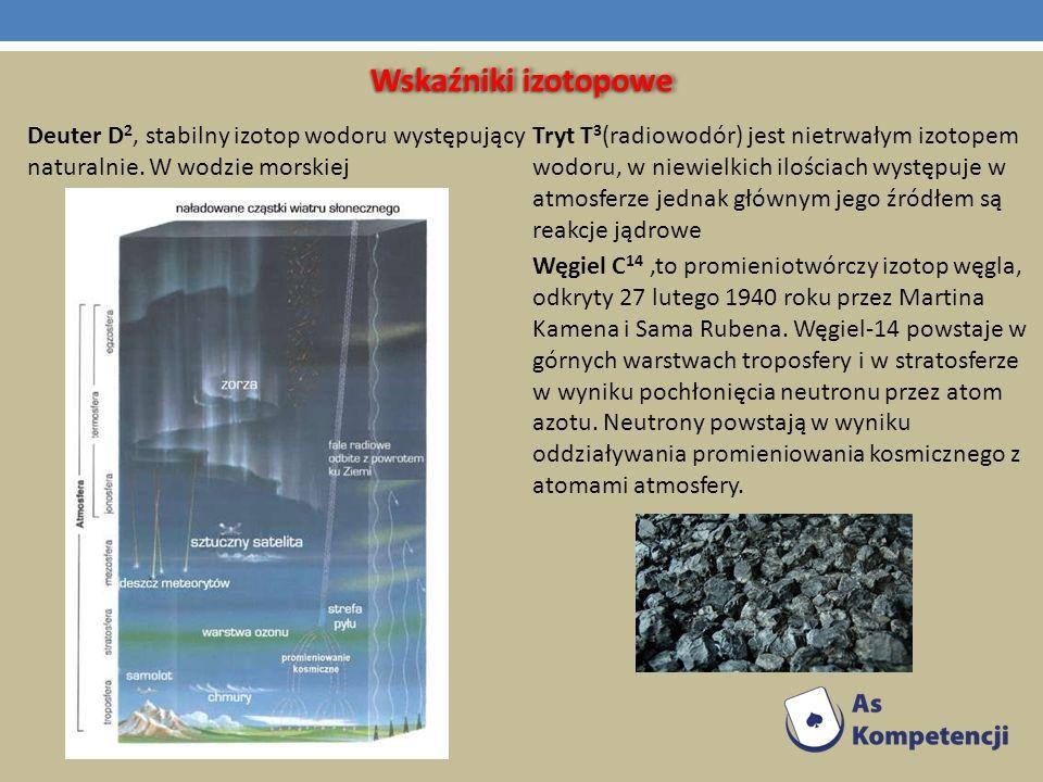 Wskaźniki izotopowe Deuter D2, stabilny izotop wodoru występujący naturalnie. W wodzie morskiej.