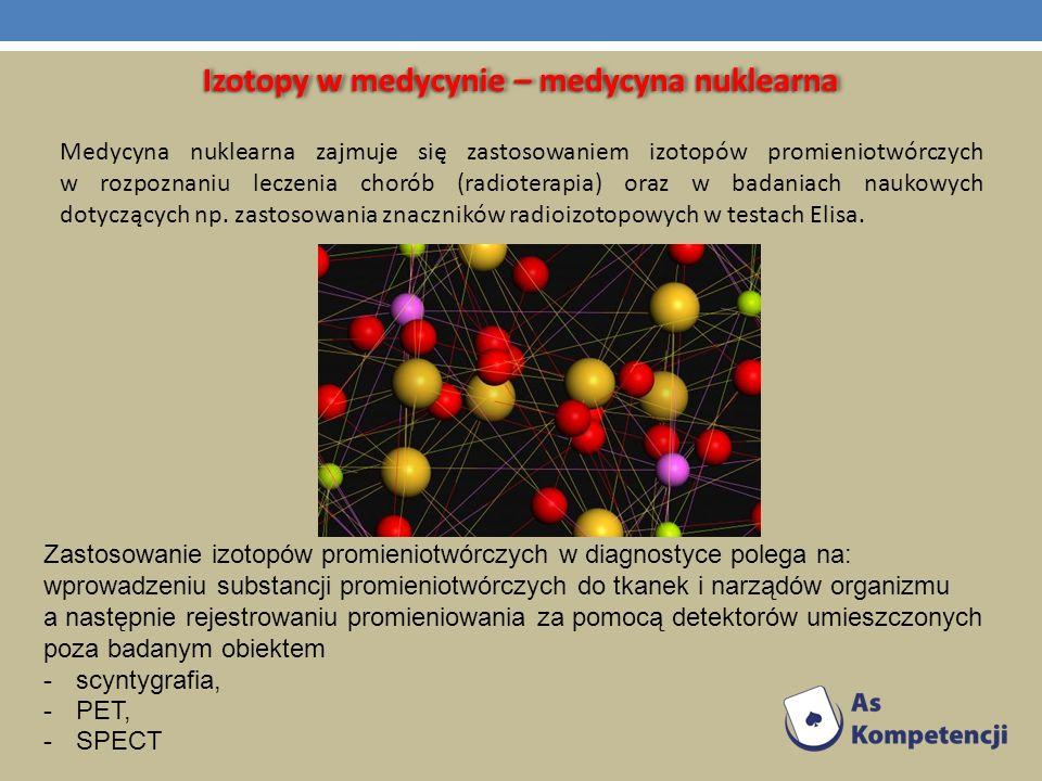 Izotopy w medycynie – medycyna nuklearna