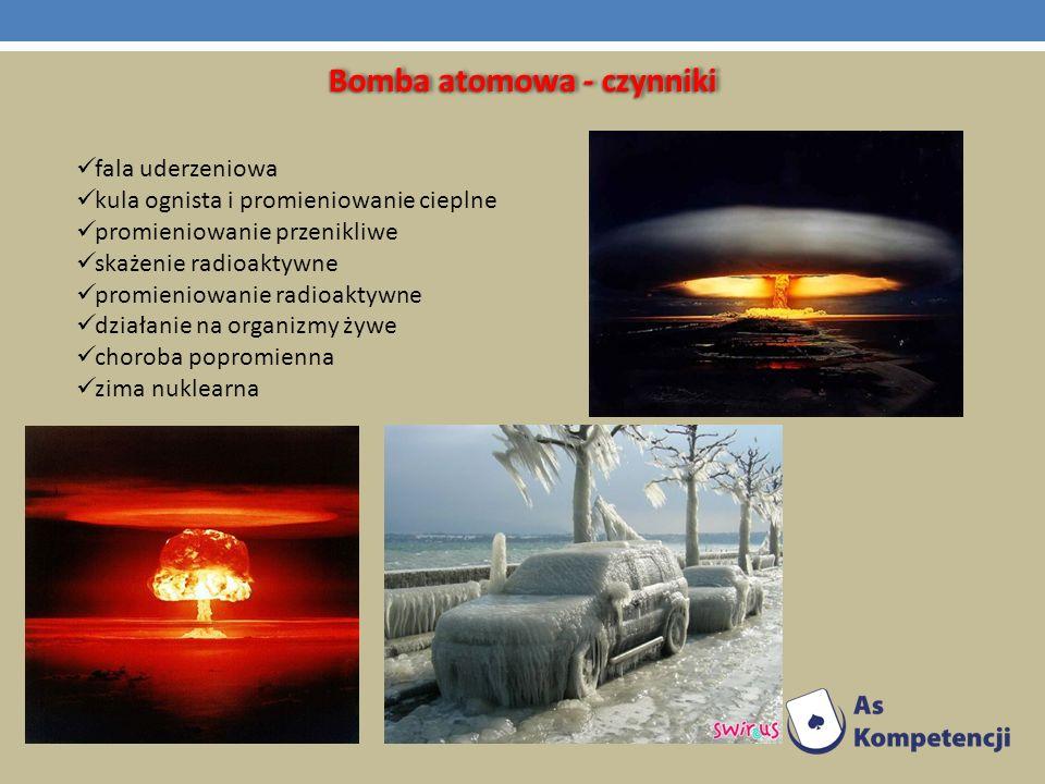 Bomba atomowa - czynniki